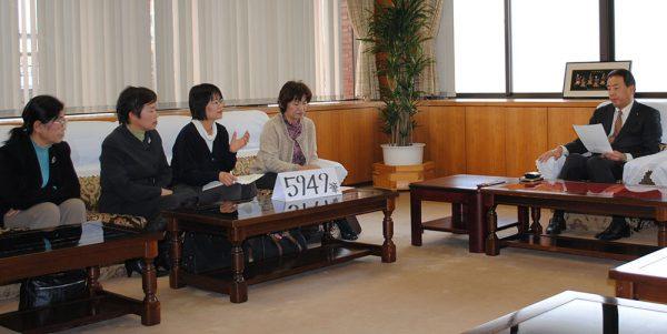 2012年に高岡市議会へ署名をもって申し入れ