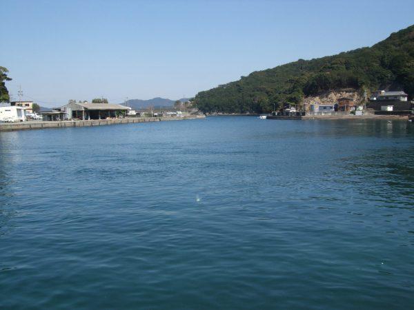 三重県南伊勢町の街宣場所の風景