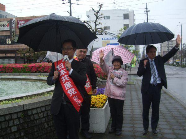 愛知県板倉市での宣伝の様子