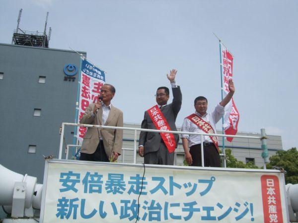 愛知県名古屋市での宣伝の様子