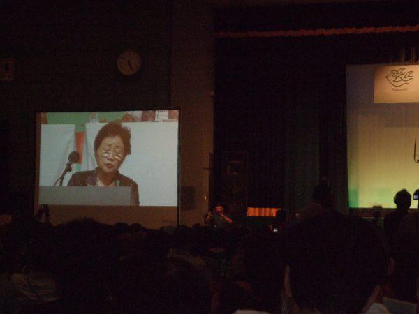 勧告代表として参加された女性。愛知県主審で広島で被爆した体験を語りました