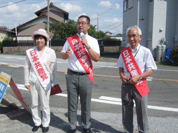 愛知県一宮市での宣伝の様子