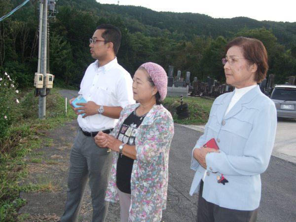中津川市福岡に計画されている産廃予定地を視察