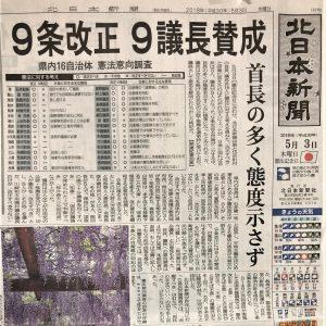 憲法改悪、富山県9議長が賛成