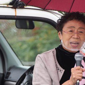 【動画】恵那市議会議員選挙 予定候補 食と健康生活相談員のさわたりみなえさんの街頭演説