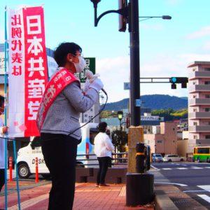 10/20中津川市で街宣。政権交代でいのち・暮らし最優先の政治を