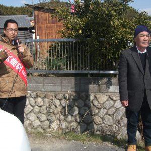 三重県北勢地区でキャラバン宣伝を開始し、各所で街角演説を行いました