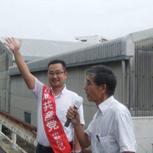 愛知県第4次キャラバンで名古屋市緑区で街頭演説