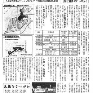 民報なかつがわ 10月25日号 中津川市立地適正化計画